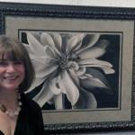 "Wendi Schnieder with my favorite piece: :Dalia with Bee"""
