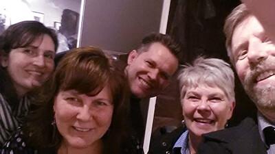 Carol Golemboski, Barb, Bill Adams, Marti Foxhoven and Gary at Mike Wright Gallery