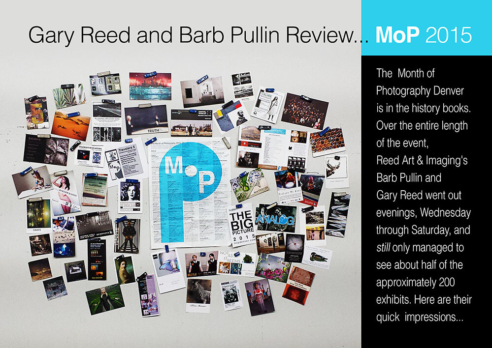 [On the Reed Magnet Wall] are just some of the gallery cards that Gary Reed & Barb Pullin acquired over the course of their visits — plus their well-used schedule of events