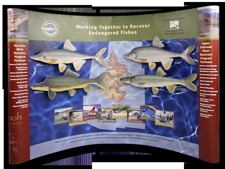 Upper Colorado Fish Recovery Exhibit Graphics