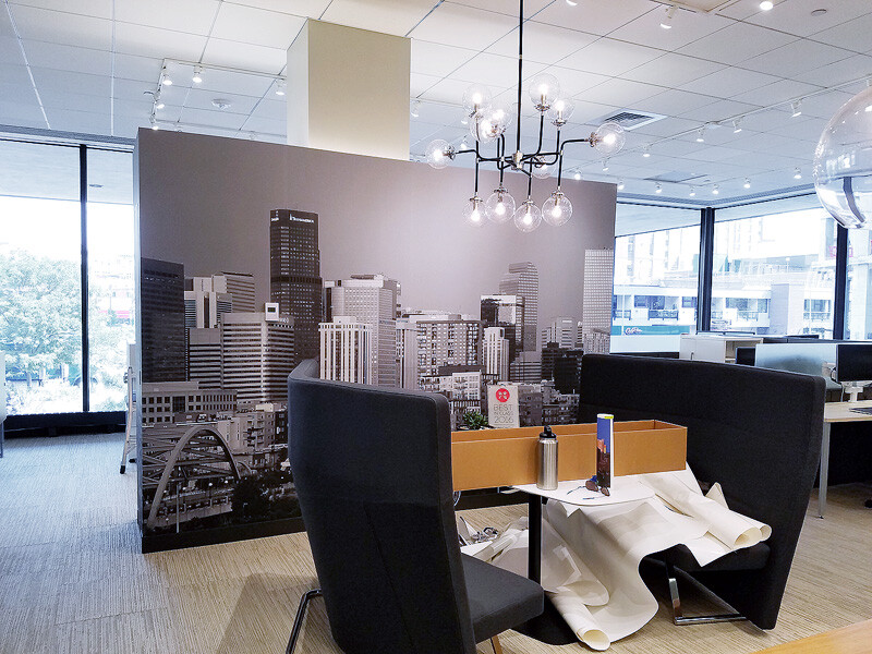 Clients are now greeted with an upscale feel.