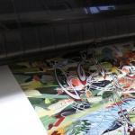 Pigment print coming off of fine art pigment printer