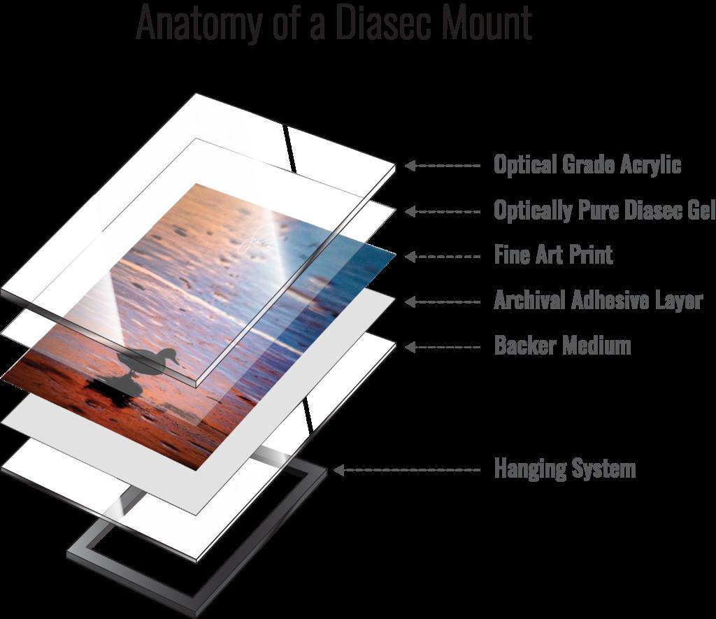 Diasec Acrylic Face Mounts Denver Colorado USA